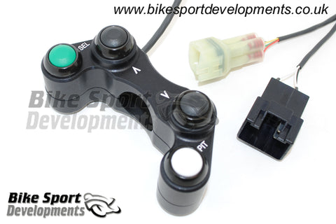 Kawasaki ZX10-2016 , 4 button left side switch – Select , Up , Down , Pit (Kit only)
