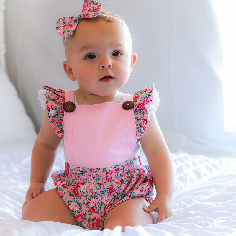 MILA BUTTON ROMPER