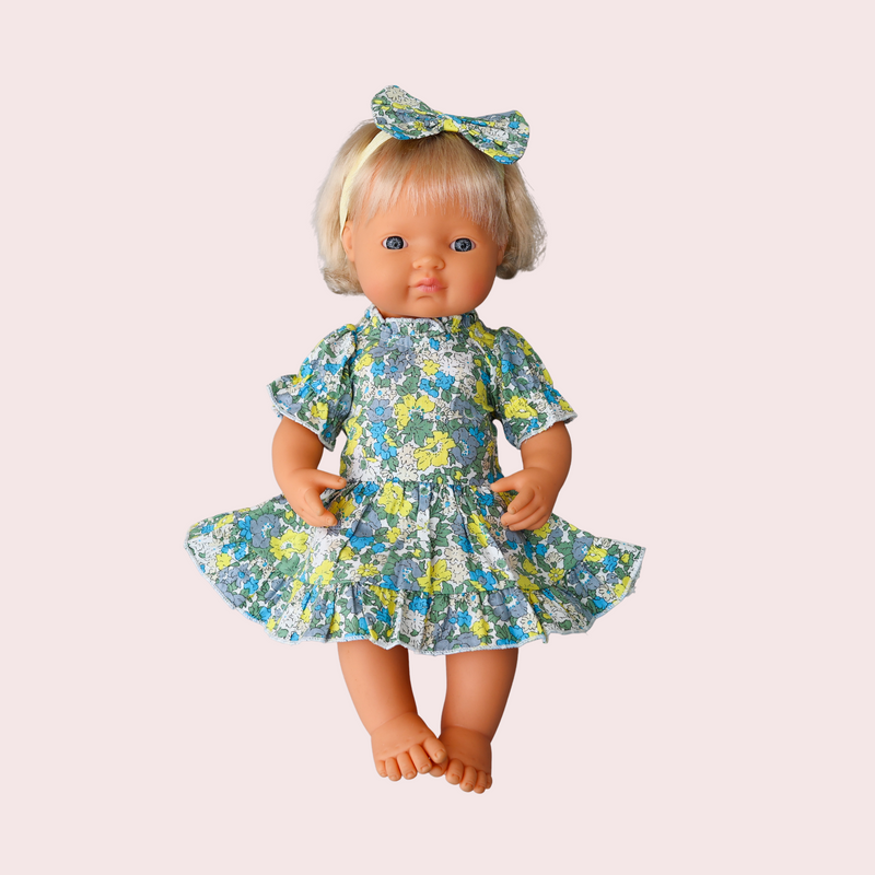 MACY FRILL DRESS FOR DOLL