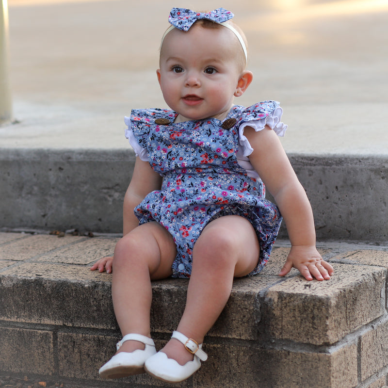 DARLENE BUTTON ROMPER