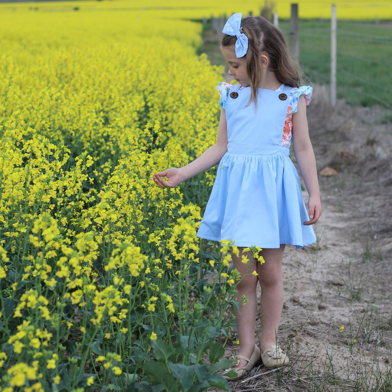 Blue Belle  Pinny - Toots Kids