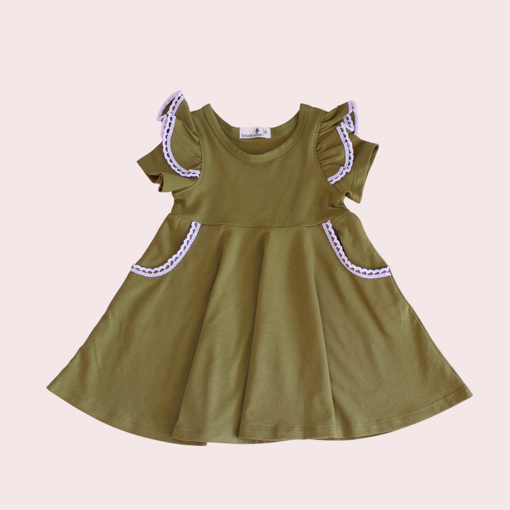 DRIED HERB TWIRLY GIRL DRESS