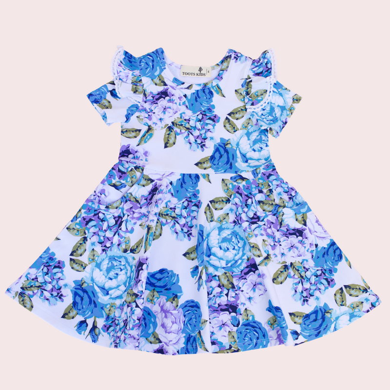 SAPPHIRE TWIRLY GIRL DRESS