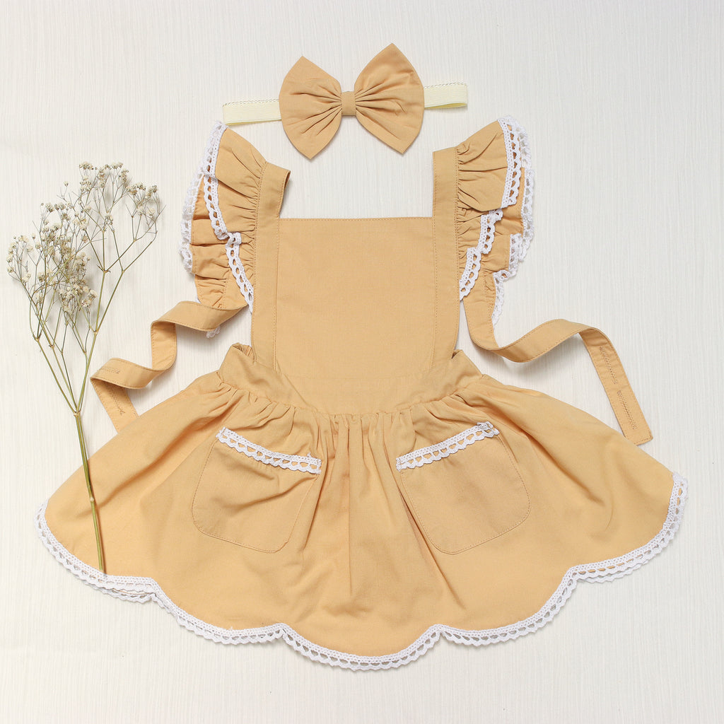 Golden yellow pinny dress