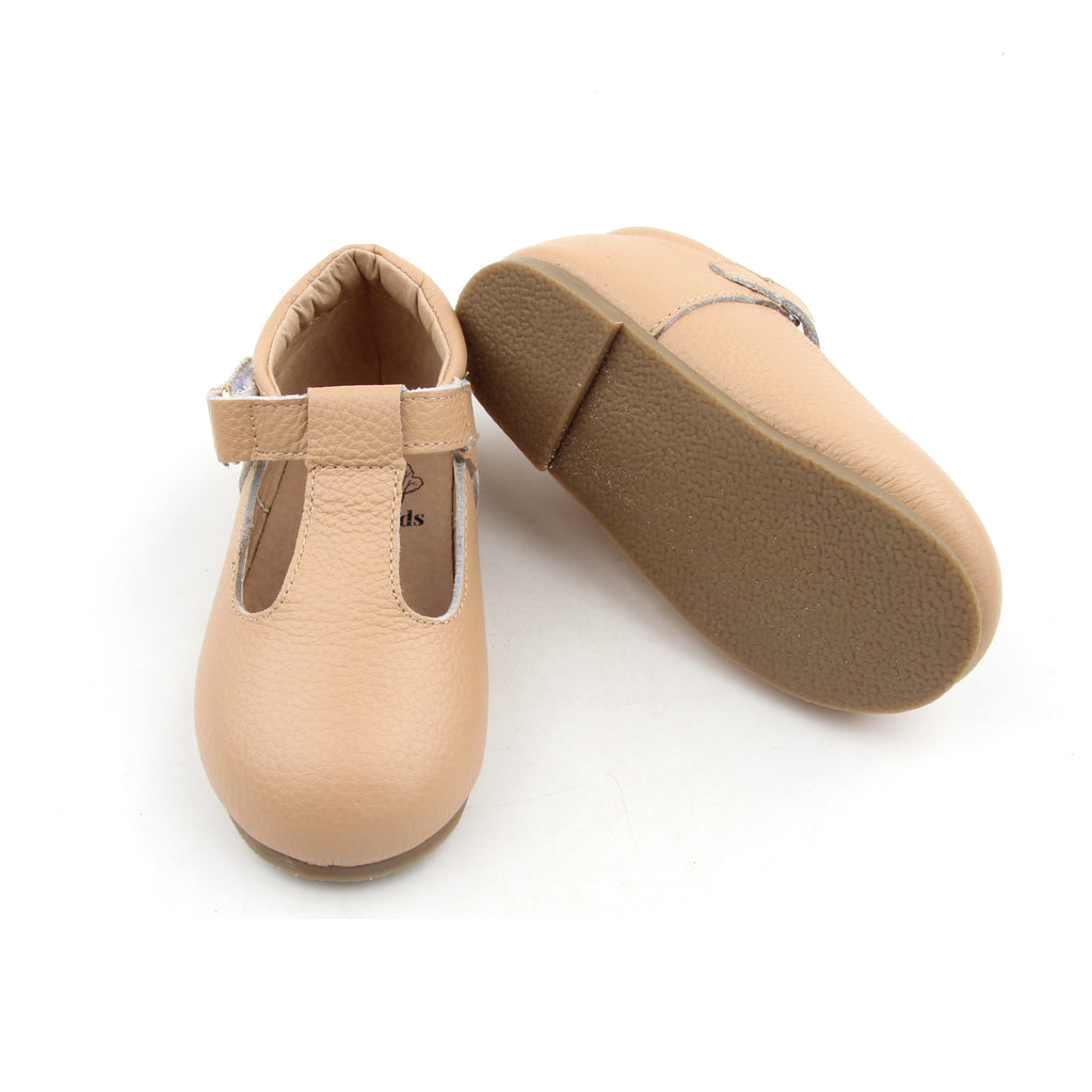Beige T-bar shoes - Toots Kids