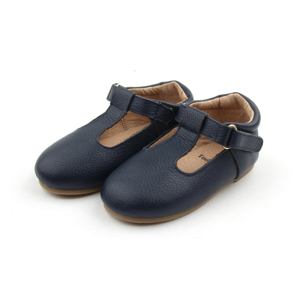 Navy T-bar shoes - Toots Kids
