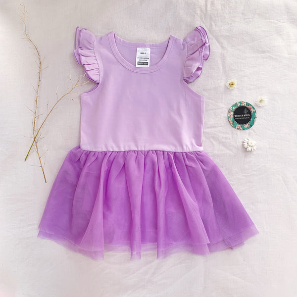 Lilac Tutu Flutter romper /dress - Toots Kids