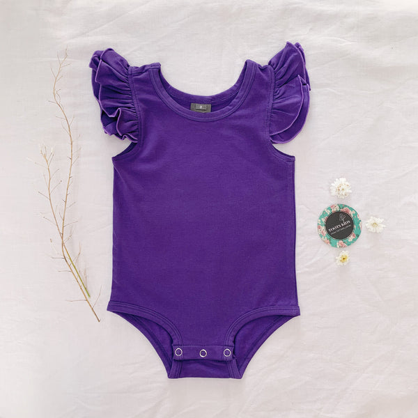 Ultra violet sleeveless flutter - Toots Kids