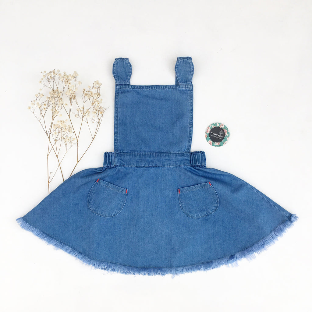 Light Denim Pinny - Toots Kids