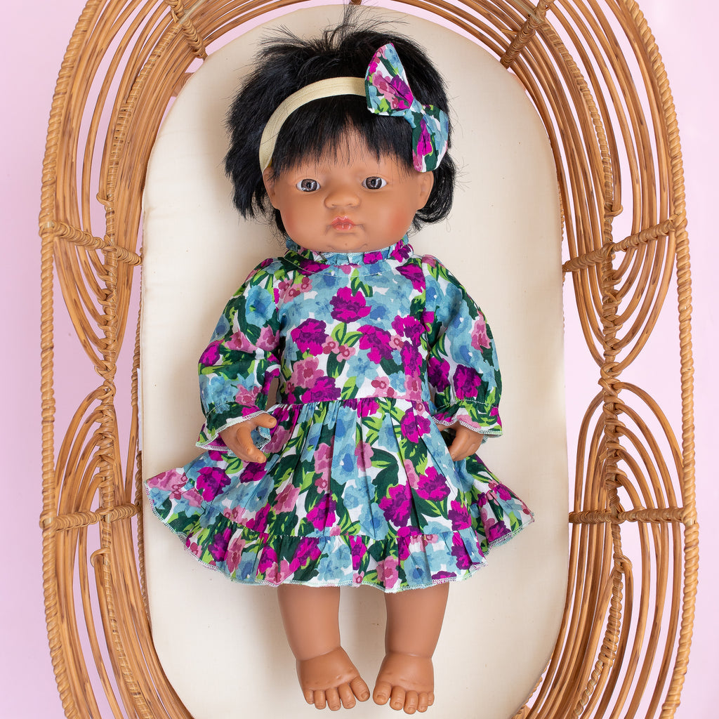 VIOLA FRILLY DRESS FOR DOLL