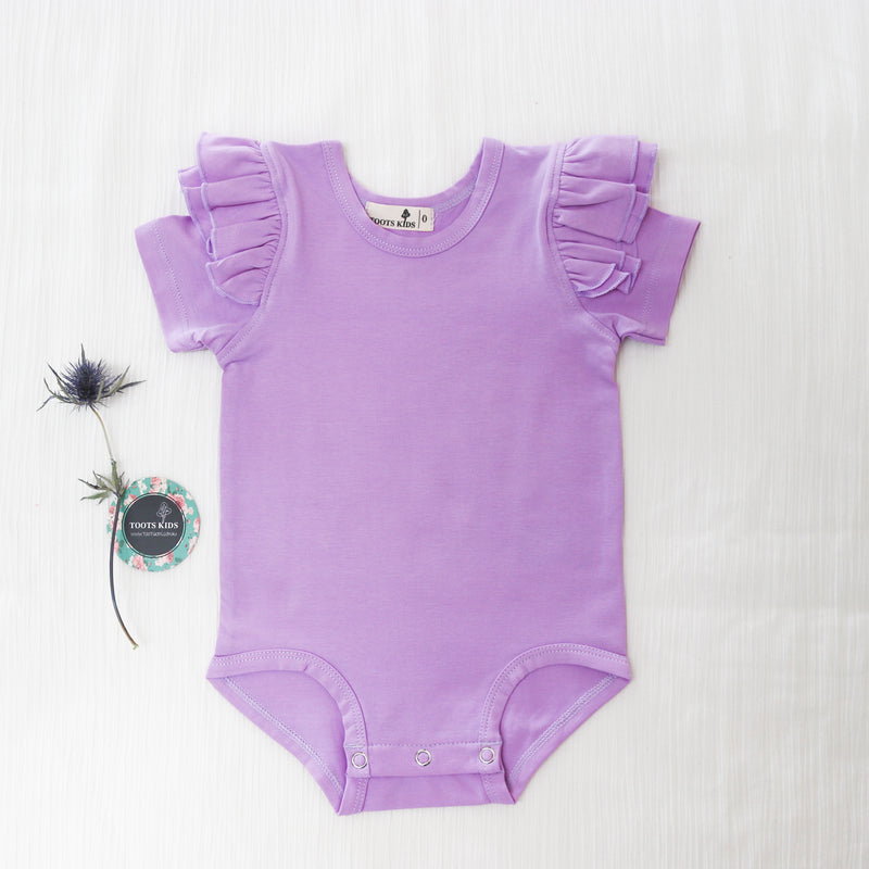 cute baby girl t-shirts top short sleeve flutter