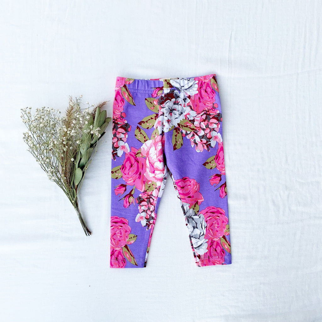 Cute girl clothes floral leggings