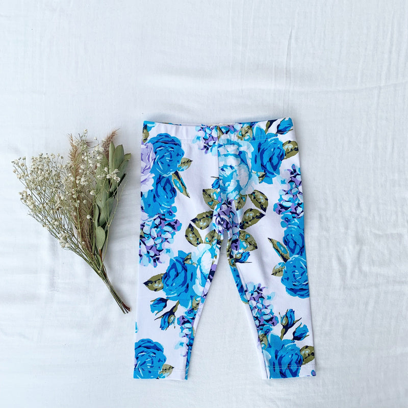 SAPPHIRE FLORAL LEGGING - Toots Kids