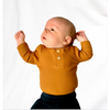 Mustard ribbed Long sleeve baby kid toddler