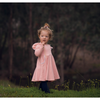 LONG SLEEVE TWIRLY GIRL DRESS - SOFT BLUSH