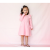 LONG SLEEVE TWIRLY GIRL DRESS - BABY PINK