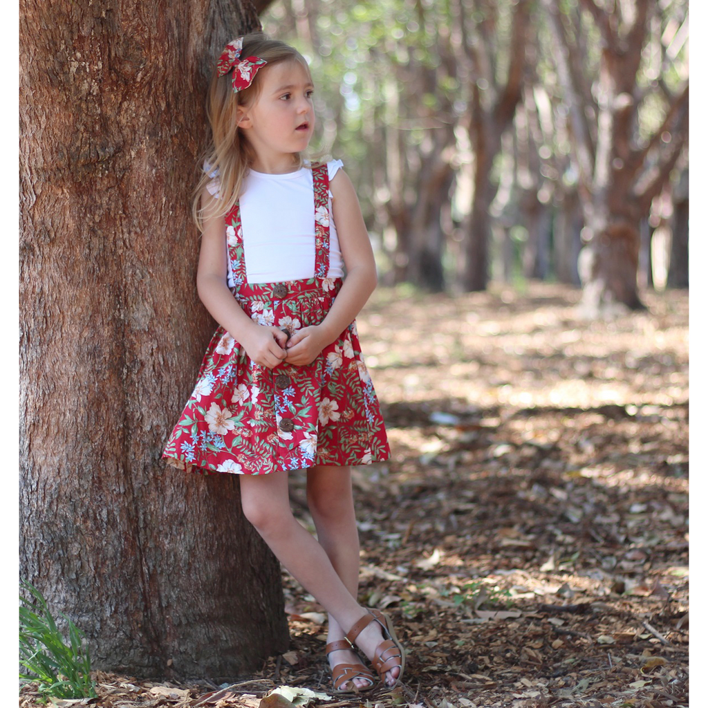 Lucia Suspender Skirt - Toots Kids