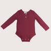 red ribbed Long sleeve baby kid toddler