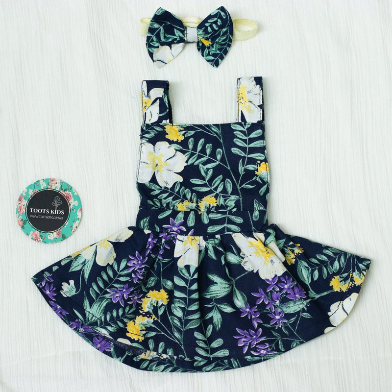 DOLL DRESS PINNY COTTON FLORAL