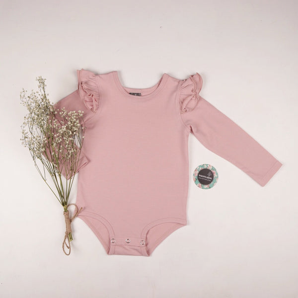 SOFT BLUSH  long sleeve flutter - Toots Kids