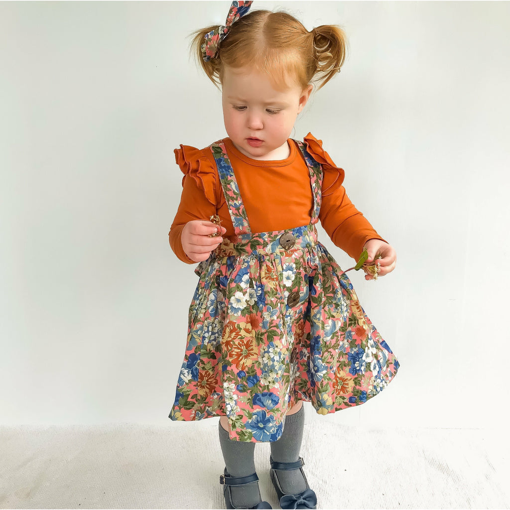 ALLYCE SUSPENDER SKIRT - Toots Kids