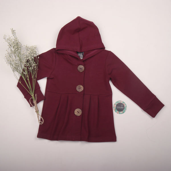 Wine button hoodie - Toots Kids