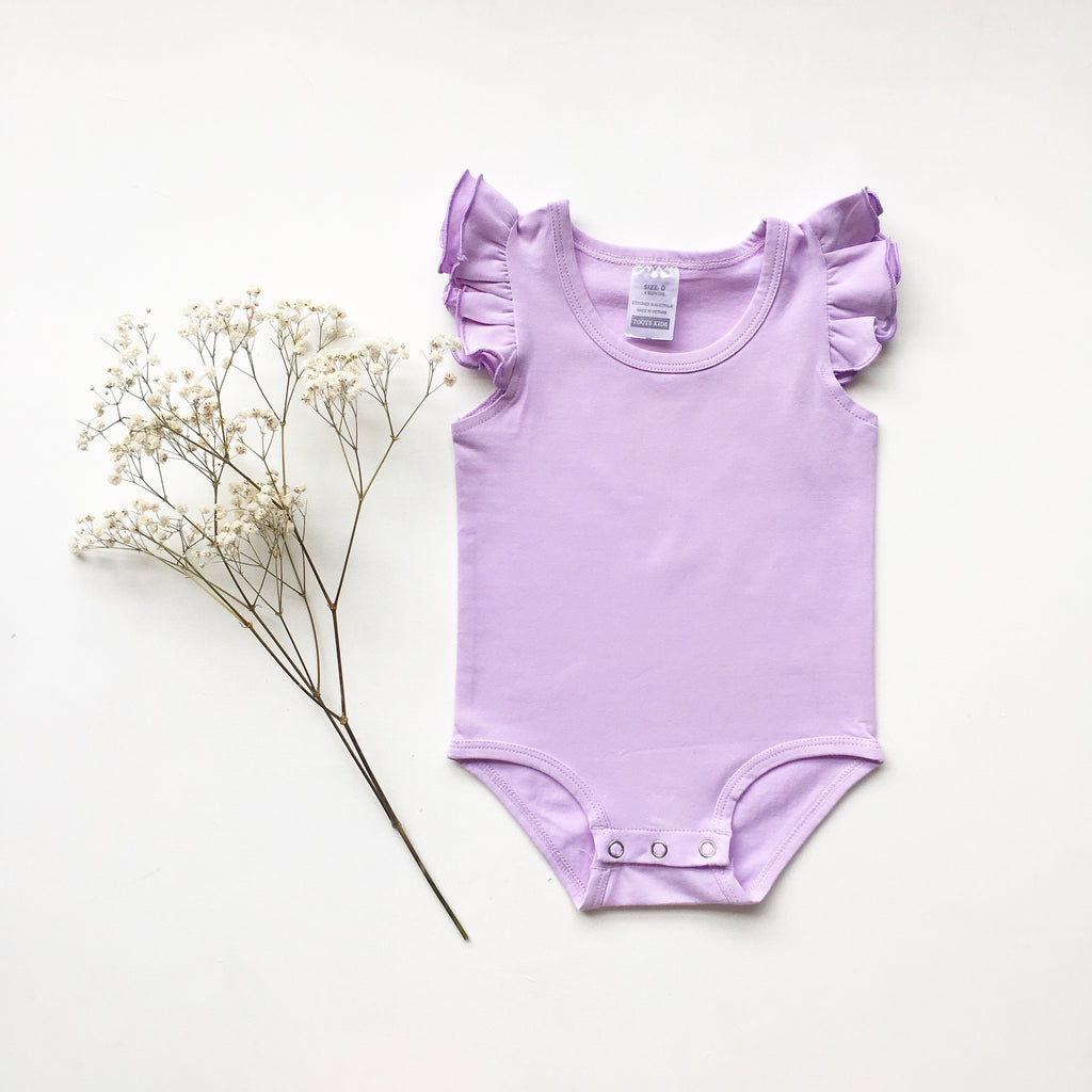Lilac Sleeveless Flutter- small fit - Toots Kids