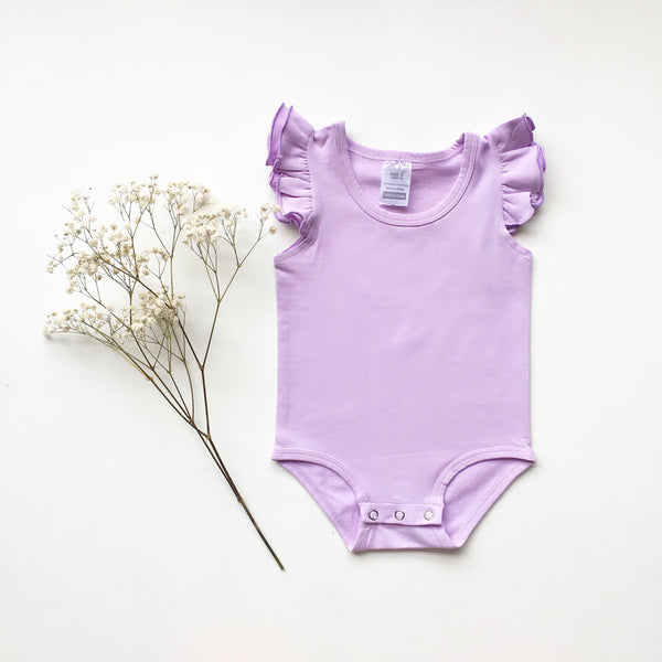 Lilac Sleeveless Flutter - Toots Kids