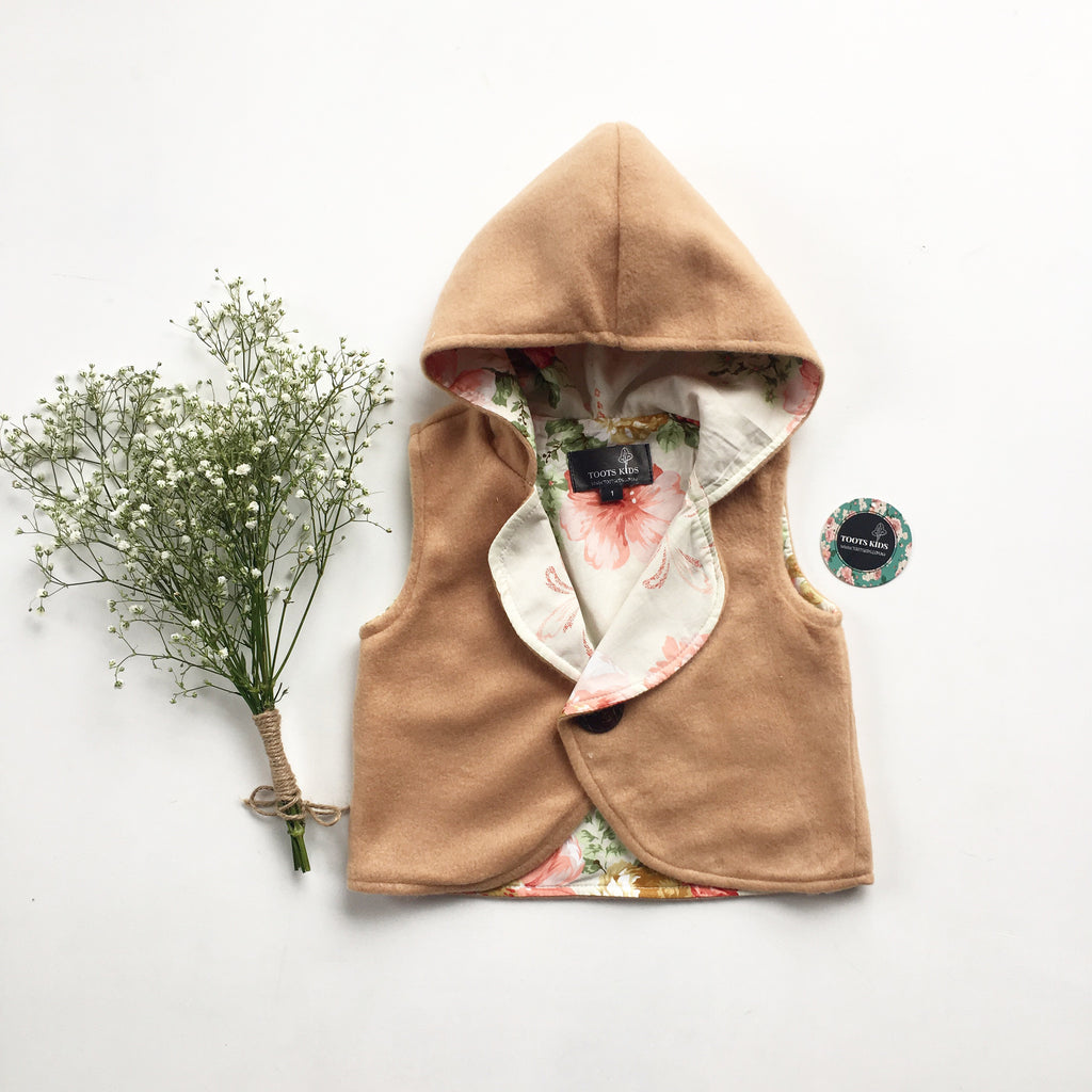 Fawn Hooded Vest - Toots Kids