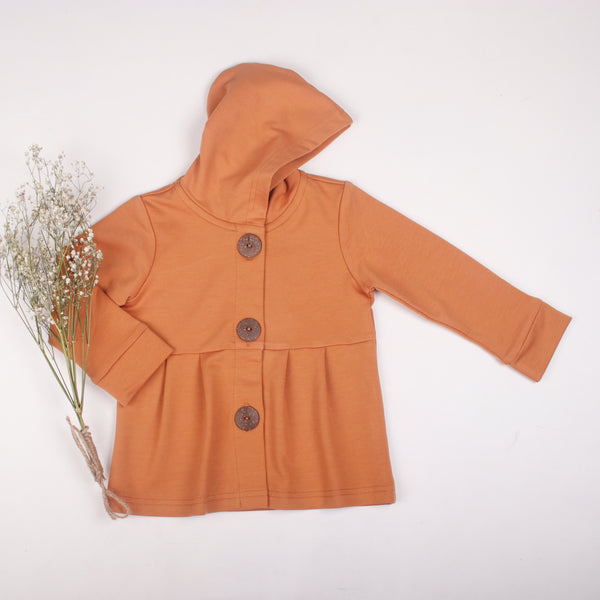 Honey Ginger button hoodie - Toots Kids