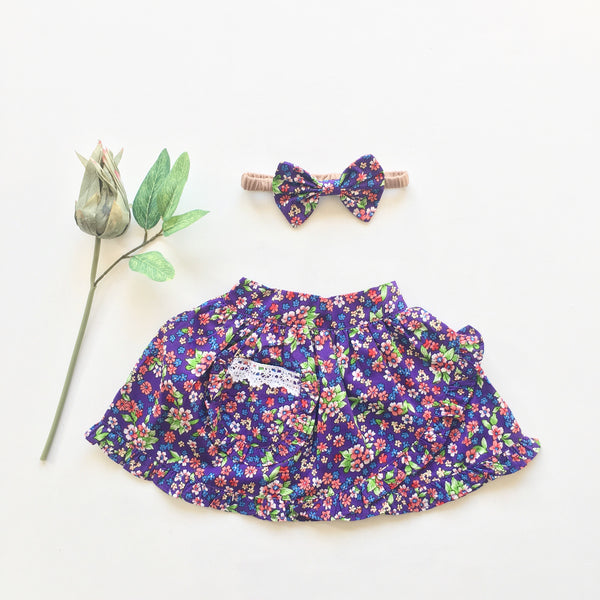 VIOLET tulip ruffled skirt