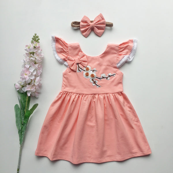 Peach Blossom Dress - Toots Kids