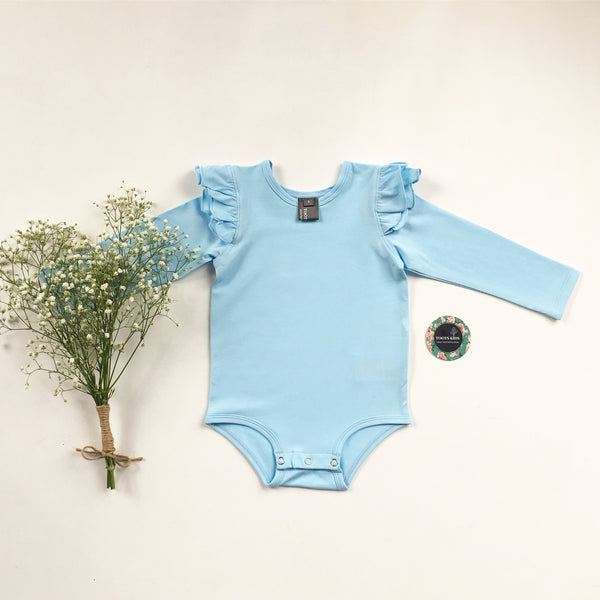 Sky blue  long sleeve flutter - Toots Kids