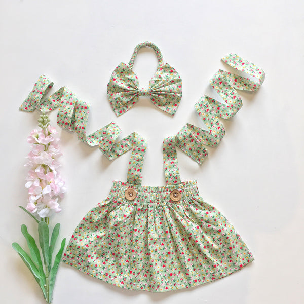 Addison Skirt + bow headband