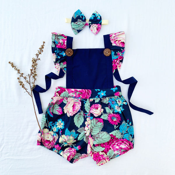KRISTY BUTTON ROMPER - Toots Kids
