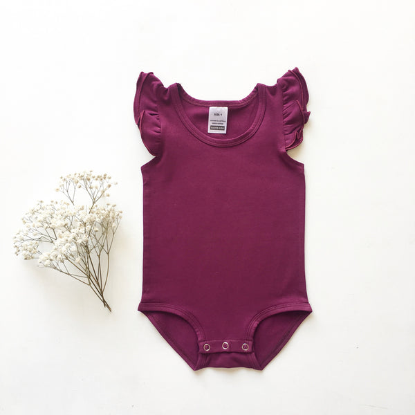 Boysenberry Sleeveless Flutter- small fit - Toots Kids