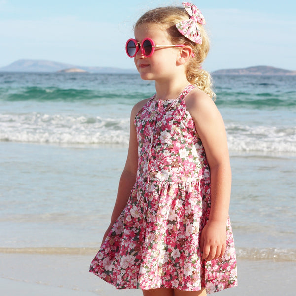 Alora Button Dress - Toots Kids