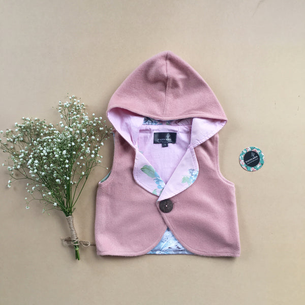 Blush Hooded Vest - Toots Kids
