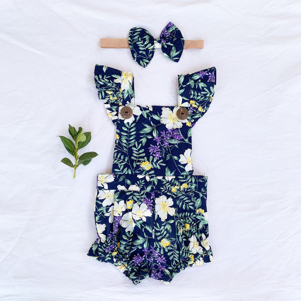 Maree Button Romper - Toots Kids
