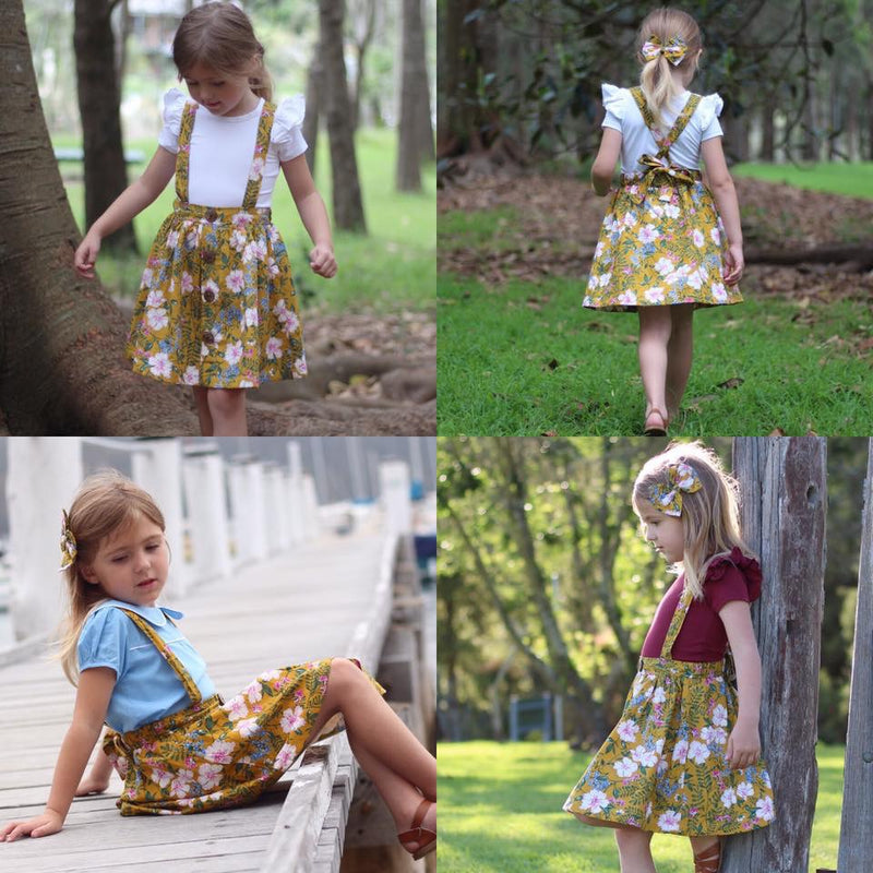 Kyra Suspender Skirt - Toots Kids