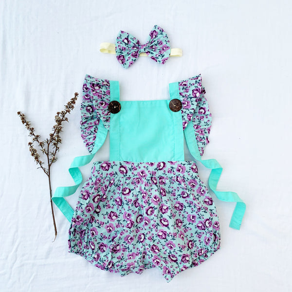 SHAYLIE BUTTON ROMPER - Toots Kids