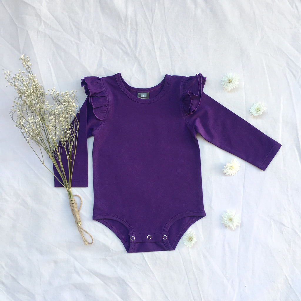Purple  long sleeve flutter - Toots Kids