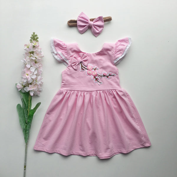 Pink Blossom Dress - Toots Kids
