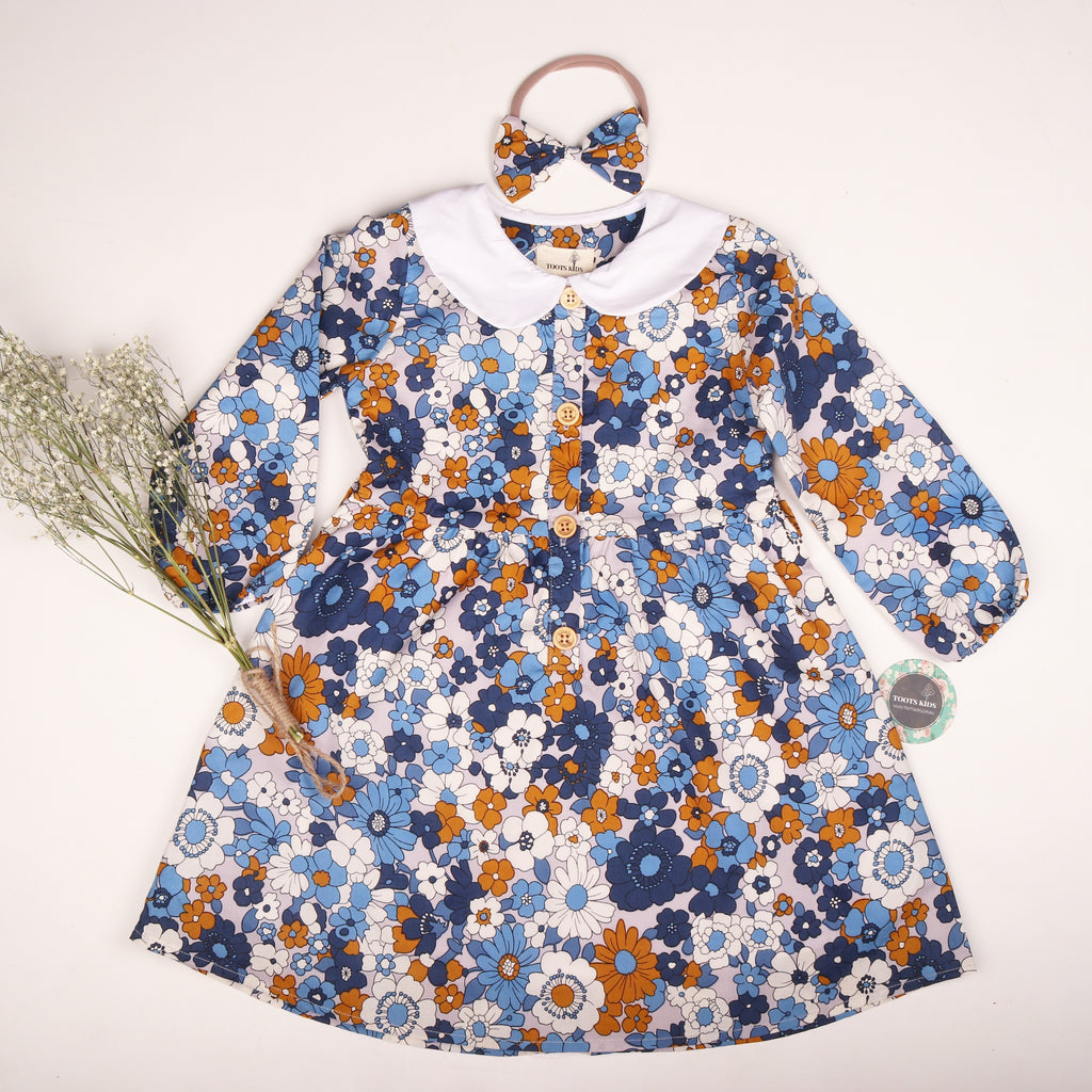 Paisley winter dress - Toots Kids