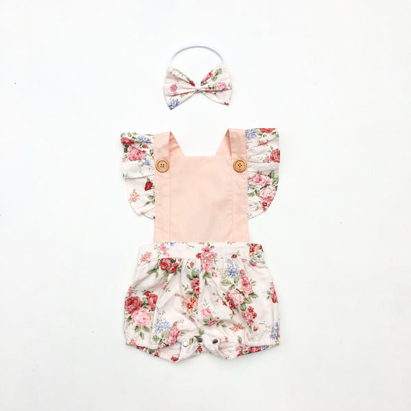 Charlie Button Romper - Toots Kids