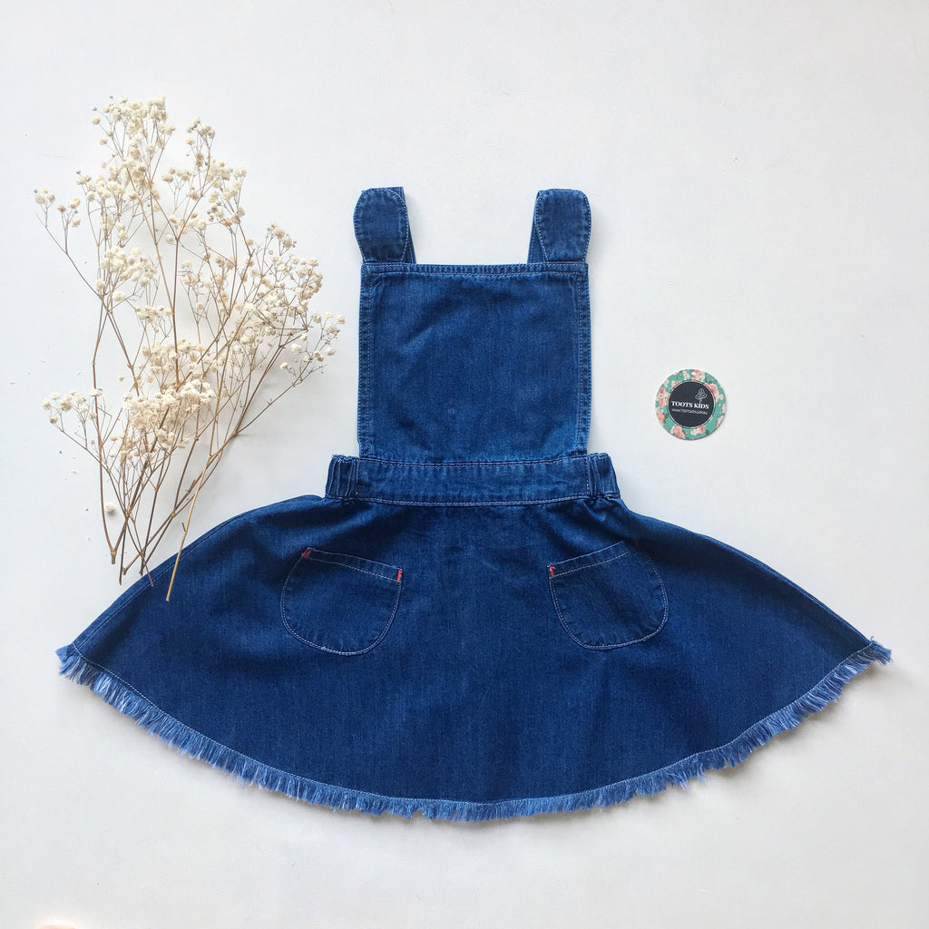 Dark Denim Pinny - Toots Kids
