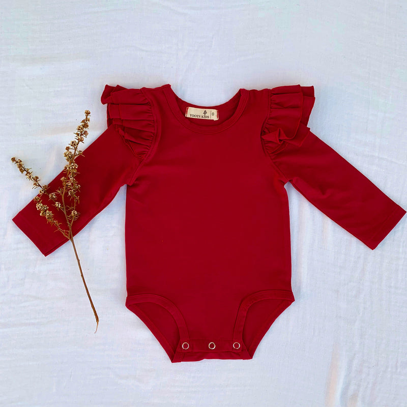 BERRY LONG SLEEVE FLUTTER - Toots Kids