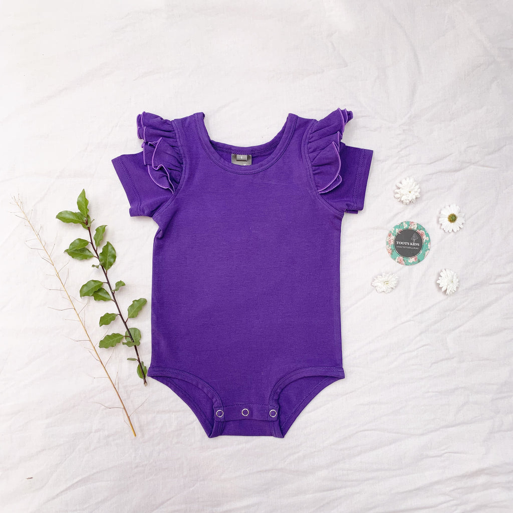 Ultra violet short sleeve flutter - Toots Kids