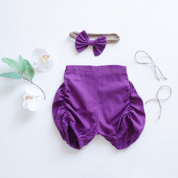 Purple  Pucker shorts
