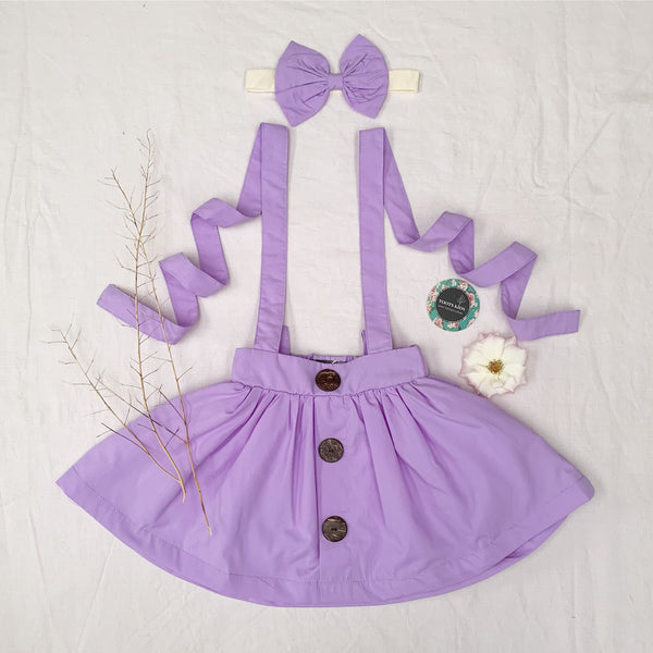 Sheer Lilac Suspender Skirt - Toots Kids